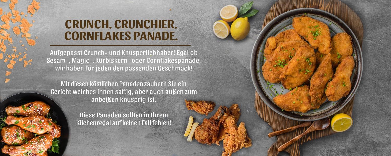 Crunch. Chrunchier. Cornfakes Panade.